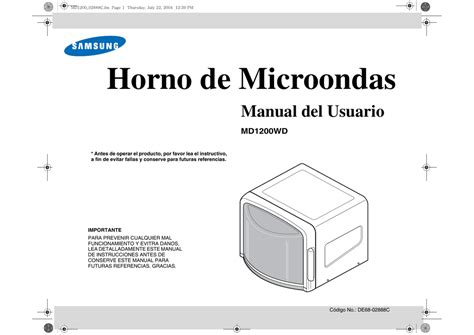 Samsung MD1200WD Manual de usuario Manualzz