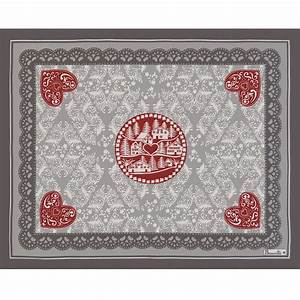 Set De Table : set de table rouge en coton set de table l hiver beauvill ~ Teatrodelosmanantiales.com Idées de Décoration