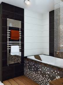 Black White Bathroom Tiles Ideas Black White Mosaic Bathroom Tile Interior Design Ideas