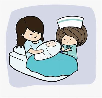 Labor Delivery Nurse Birth Clipart Cartoon Clipartkey