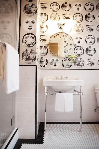 Bathroom Bathrooms Traditional Face Fornasetti Tile Hgtv