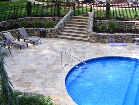 Falling In Love With Travertine Pavers Pool Deck Homesfeed