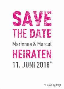 Save The Date Karte : magentafarbene save the date karte drucken lassen ~ A.2002-acura-tl-radio.info Haus und Dekorationen