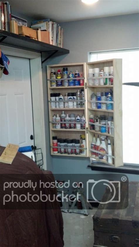spray paint  cabinet  garage journal board