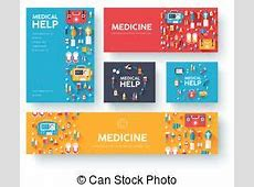 Flyers for health and medical concept hygiene template of