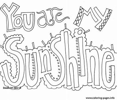Coloring Word Sunshine Pages Printable