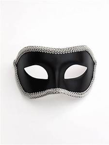 Men's Plain Venetian Masks & Plain Masquerade Masks