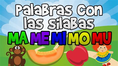 palabras con las silabas ma me mi mo mu con dibujos en espa 241 ol para ni 241 os aprender a leer