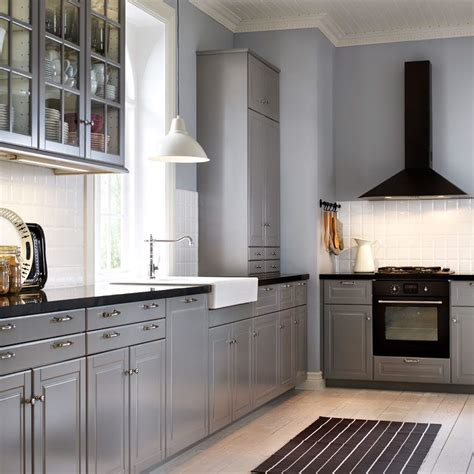 grey black kitchen traditional grey ikea kitchen with black worktops and 610   dc9e6836a272bd5c8756bddfe479a653