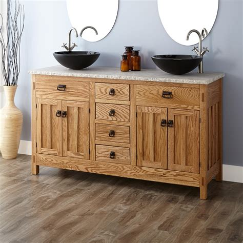 bathroom vanity with vessel sink 60 quot mission hardwood vessel sink vanity bathroom