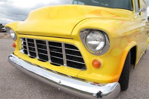chevy panel truck yellow  orange flames classic