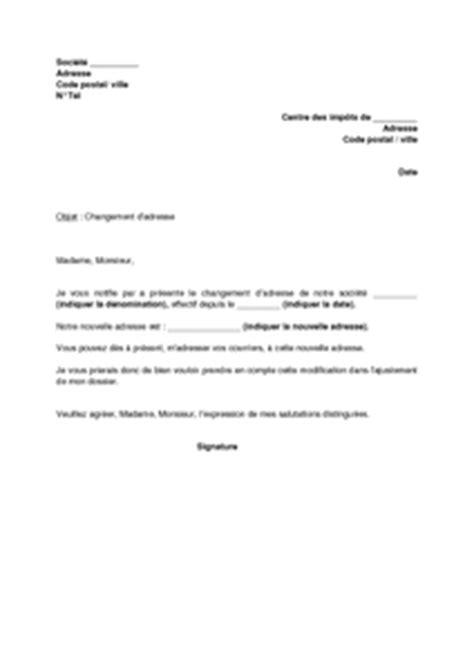 Modification Kbis by Exemple Gratuit De Lettre Notification Changement Adresse