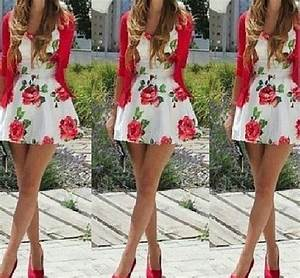 Dress: flower dress cute floral summer red - Wheretoget