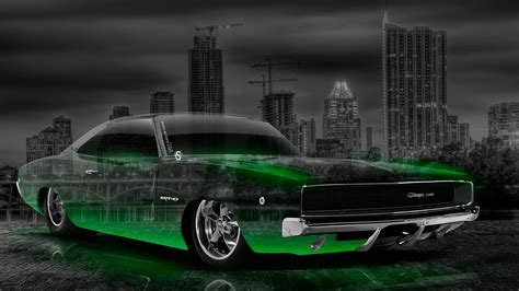 dodge charger srt retro muscle crystal city car  el tony
