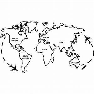 Carte Du Monde Design : sticker la carte du monde ~ Teatrodelosmanantiales.com Idées de Décoration