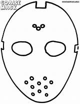 Goalie Mask Coloring Pages Coloringway Colorings sketch template