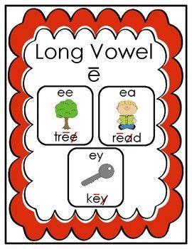 long vowel  practice pages  images long vowels