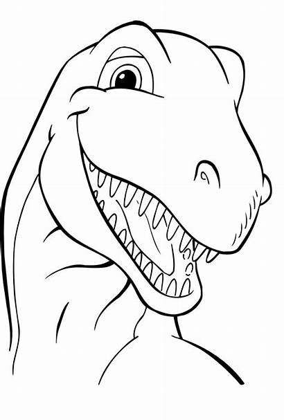 Dinosaur Coloring Pages Printable Sheets Outline Pixel