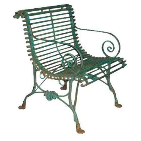 fauteuil de jardin en m 233 tal fer forg 233 style grassin