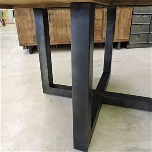 Pied De Table Metal : les tables ~ Teatrodelosmanantiales.com Idées de Décoration