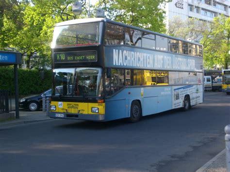 X10 Bus Man Doppeldecker Auf Der Linie X10 Am S U Bahnhof