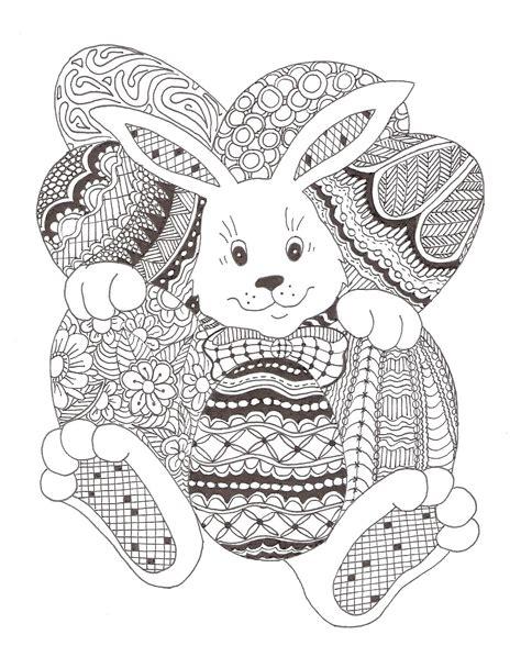easter bunny zentangle made by mariska den boer