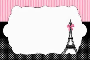 Paris Themed Baby Shower Invitations Image