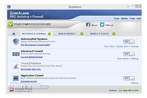 zonealarm free firewall baixar offline