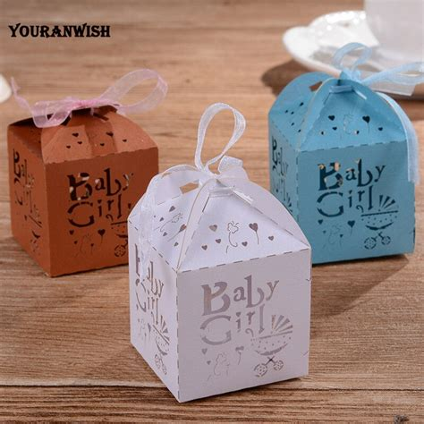 Find the ideal choice at godiva today. YOURANWISH 50Pcs/Lot Baby carriage Laser Cut Candy Boxes ...
