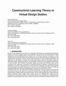 Pdf  Constructivist Learning Theory In Virtual Design Studios