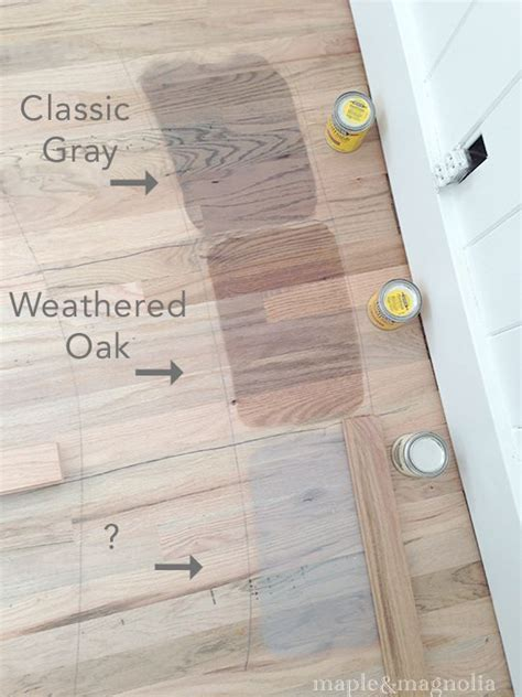 Staining   Minwax Classic Gray, Weathered Oak snowy