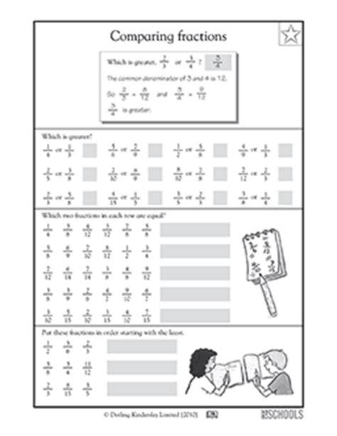 4th Grade Math Worksheets Comparing Fractions, 4th Grade Greatschools