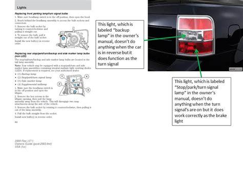 ford flex 2009 sel lamp sidemarker backup side signal turn