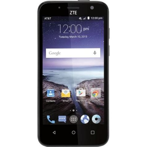 at t no contract phones refurbished at t zte z812 gophone maven 4g with 2gb memory
