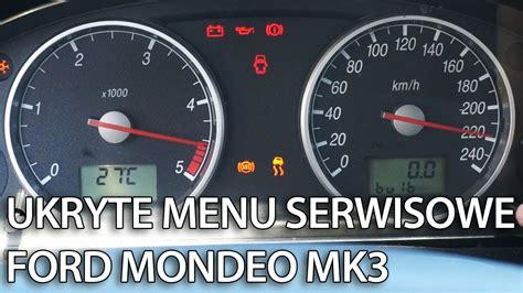 jak wejsc  menu serwisowe zegarow  ford mondeo mk