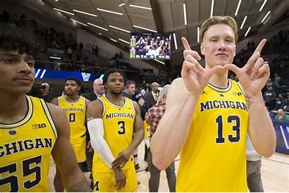 Michigan Wolverines Brazdeikis Ignas Basketball Win Villanova
