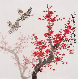 Cherry Blossom paintings Original chinese painting by art68