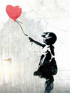 Banksy Street Artist Girl with Red Balloon 2 Print A4 A3 ...