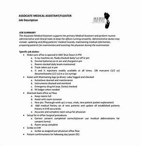 medical assistant job description template 10 free word With physician assistant job description template