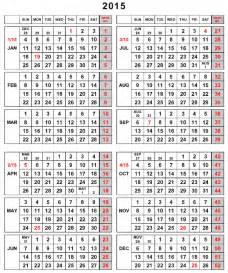 Fiscal Year Calendar 2015 Printable