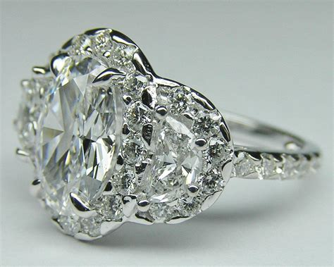 engagement ring oval halo from mdc diamonds oval