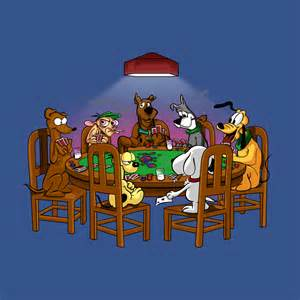 Cartoon Dogs Playing Poker