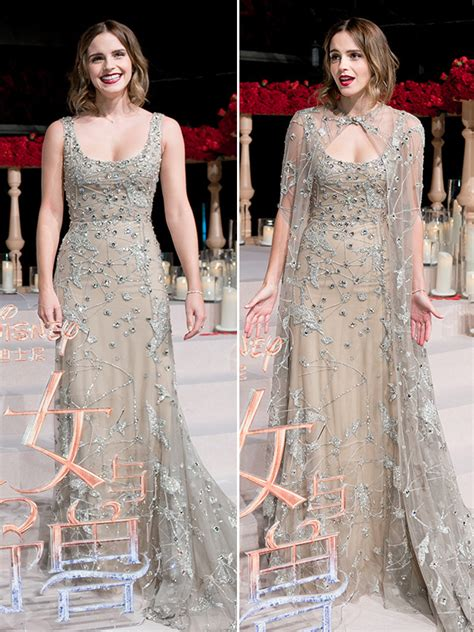 Emma Watson Embellished Gown Cape For Beauty The