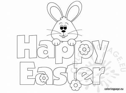 Easter Happy Coloring Bunny Pages Egg Carrot