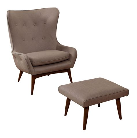 wing back chair with ottoman modernism