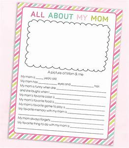FREE Mother's Day Questionnaire Printable | Lil' Luna