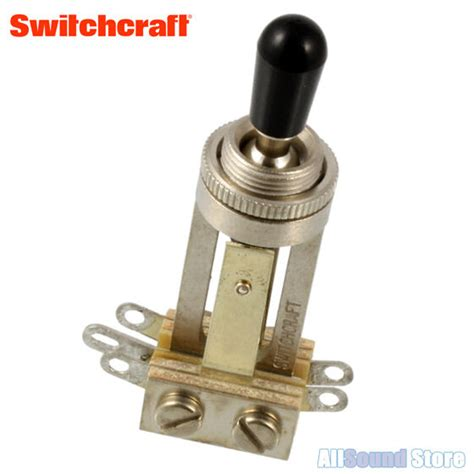 Switchcraft Long Straight Way Toggle Switch With Black