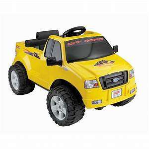 Battery Powered Ride On Toy Vehicle F150 Truck Yellow 6