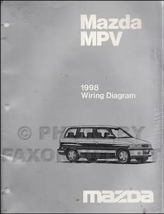 1998 Mazda Mpv Repair Shop Manual Original