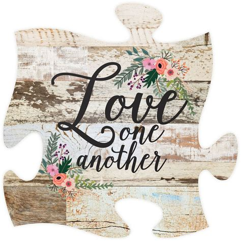 7 letter answer(s) to church wall decoration. Love One Another Puzzle Piece | Puzzle frame, Puzzle piece crafts, Puzzle art